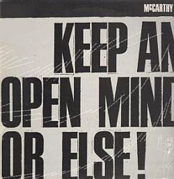 mccarthy 1989 - keep an open mind or else